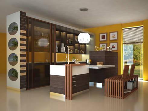 Concept cucina: Cucina in stile in stile Moderno di Architetto ANTONIO ZARDONI