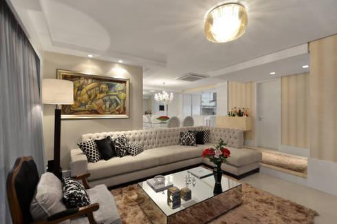 APARTAMETO - TAMARA RODRIGUEZ ARQUITETURA: Salas de estar modernas por Tamara Rodriguez Aquitetura