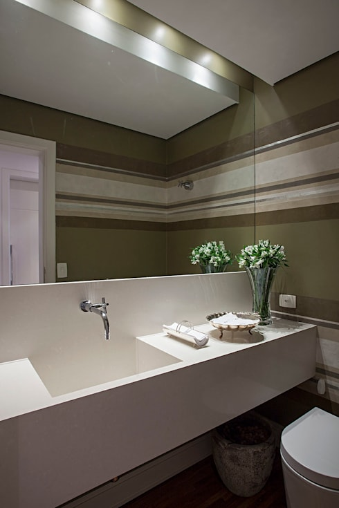 Projeto: Banheiros  por BJG Decorações de Interiores Ltda