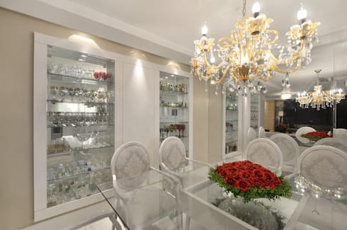 APARTAMETO - TAMARA RODRIGUEZ ARQUITETURA: Salas de jantar modernas por Tamara Rodriguez Aquitetura