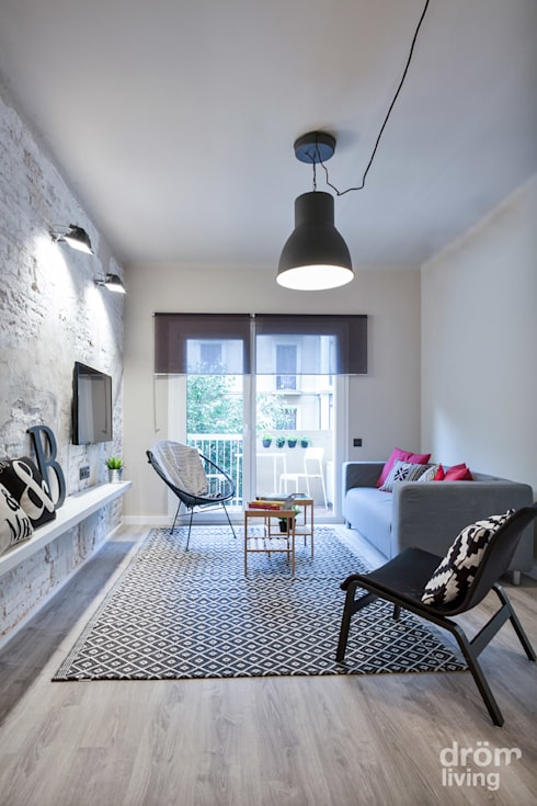 Dröm Living: iskandinav tarz tarz Oturma Odası