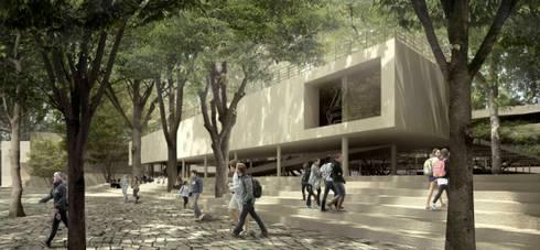 Un acceso al campus:  de estilo  por City Ink Design