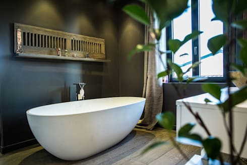 ms fabrique chambre salle de bain semi ouverte homify. Black Bedroom Furniture Sets. Home Design Ideas
