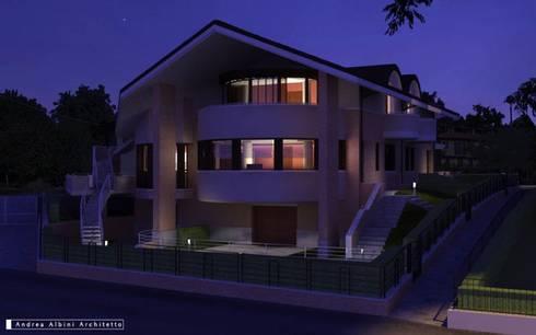 """Residenza """"le Querce"""": Case in stile in stile Moderno di Albini Architettura"""