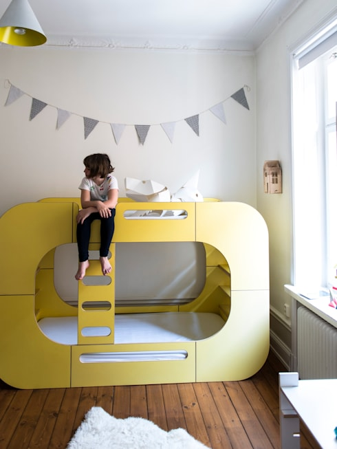 IO Bunk Pod Bunk Bed:  Nursery/kid's room by E-Side
