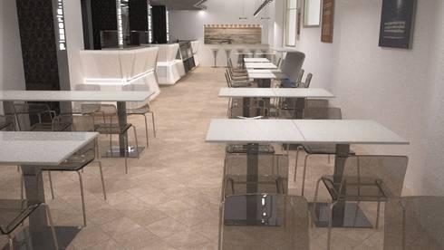 rendering sala ristorante pizzeria: Negozi & Locali Commerciali in stile  di Designer1995  Live Work Design