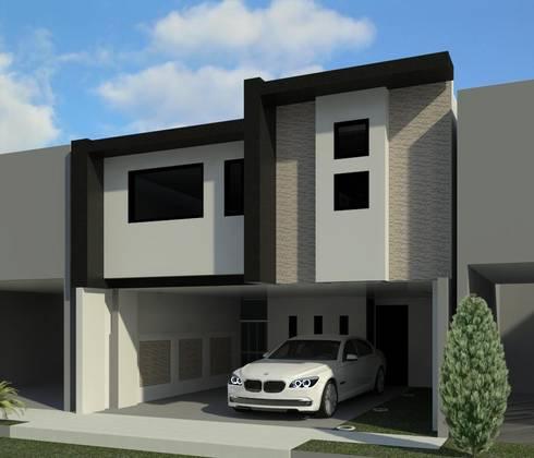 REMODELACION CASA - HABITACION: Casas de estilo moderno por ED+C ARQUITECTOS