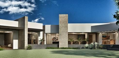Casa Lomas Hipódromo: Jardines de estilo moderno por REM Arquitectos