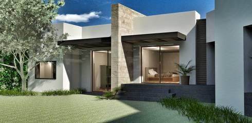 Casa Lomas Hipódromo: Recámaras de estilo moderno por REM Arquitectos