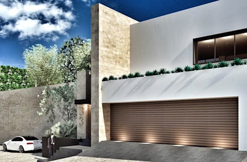 Casa Lomas Hipódromo: Casas de estilo moderno por REM Arquitectos