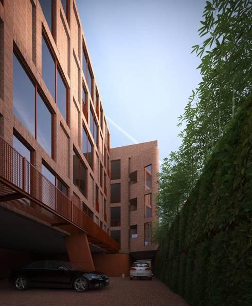 Vista Patio : Casas de estilo  por MOCAA