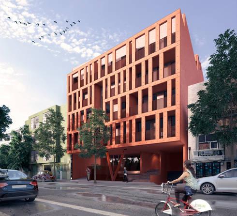 Fachada de Acceso : Casas de estilo  por MOCAA
