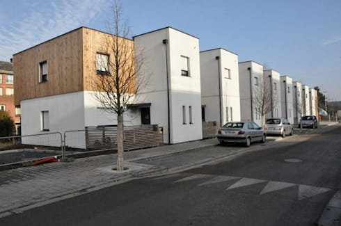 rue wagner lille 2013 21 logements individuels von bertrand danel architecte homify. Black Bedroom Furniture Sets. Home Design Ideas