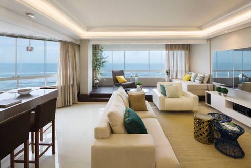 Sala de estar e visual: Salas de estar modernas por AL11 ARQUITETURA
