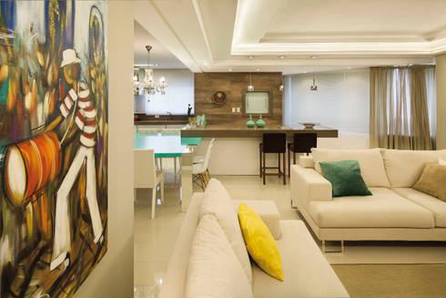 Churrasqueira: Salas de estar modernas por AL11 ARQUITETURA