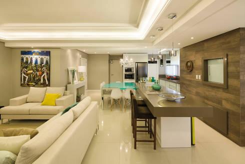 Ilha: Salas de jantar modernas por AL11 ARQUITETURA