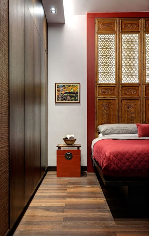 oriental vintage:  Bedroom by ample design co ltd