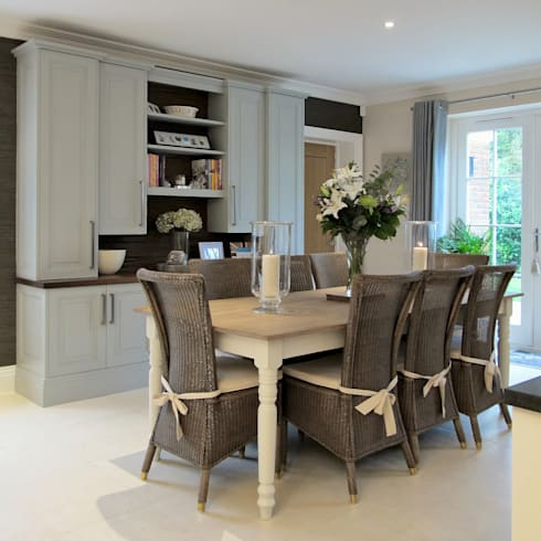 Dining Area In East Sussex:  Kitchen by Clifford Interiors