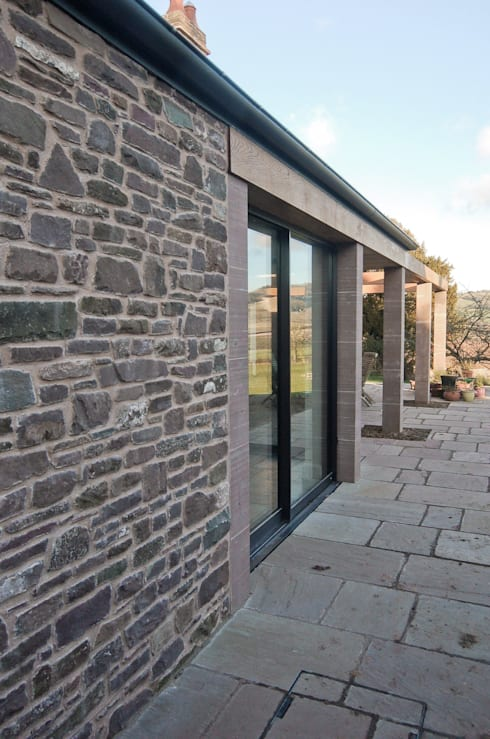 The Old Rectory, Wolvesnewton:  Terrace by Emmett Russell Architects