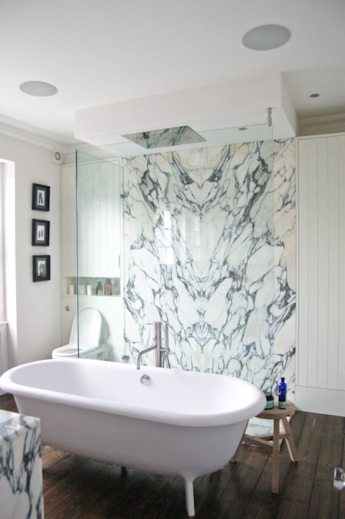 Mortimer Road, De Beauvoir:  Bathroom by Emmett Russell Architects