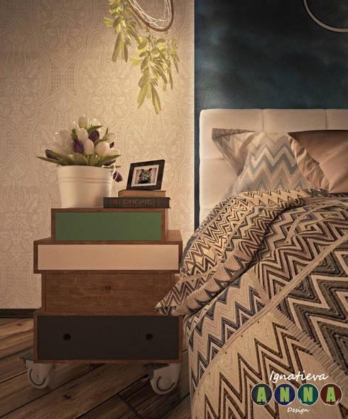 Дизайн-студия Анны Игнатьевой의  침실