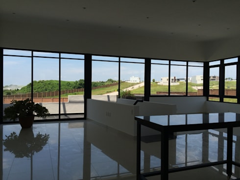Interiores Punta Tiburon: Balcones y terrazas de estilo  por Tabique