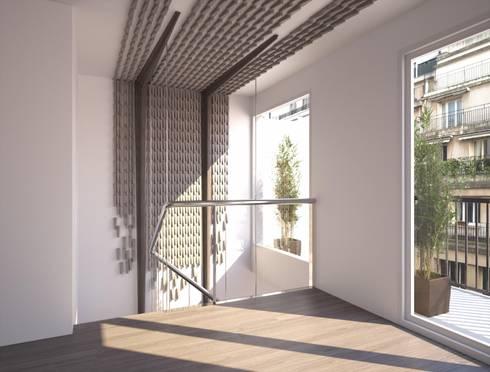 Proyecto 3D: Pasillos y vestíbulos de estilo  de Realistic-design