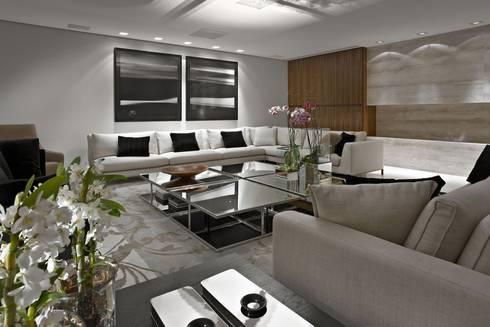 Apartamento Belvedere: Casas ecléticas por Graziella Nicolai Arquitetura e Interiores