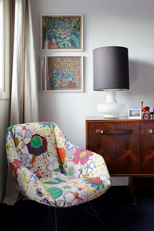 eclectic Bedroom by Mauricio Arruda Design