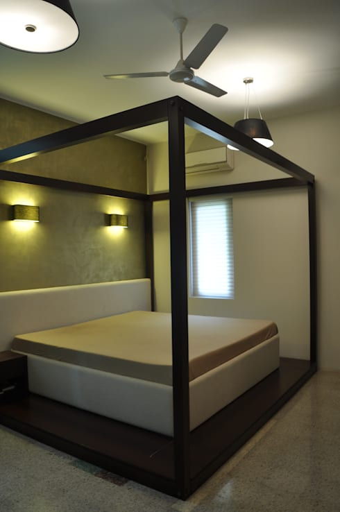 Residence at Breach Candy: minimalistic Bedroom by Dhruva Samal & Associates