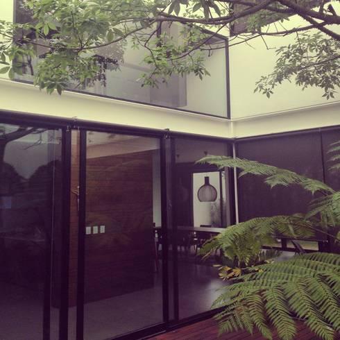 CASA VILLA PALMAS: Jardines de estilo moderno por DA:HAUS