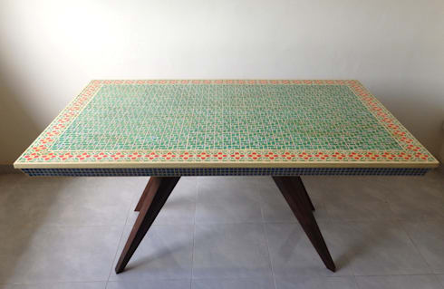Mosaic dining table:   by Art From Junk Pte Ltd