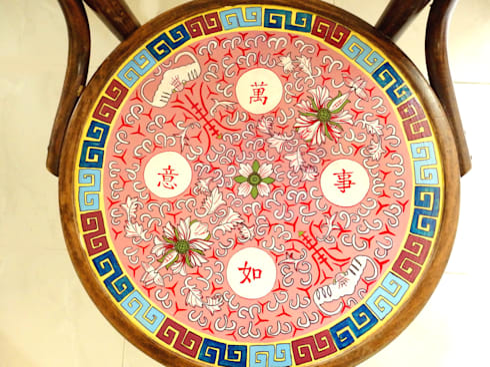 Kopitiam chair:   by Art From Junk Pte Ltd