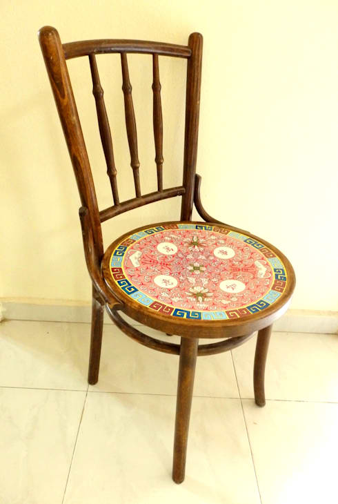 Kopitiam chair:   by Art From Junk Pte Ltd