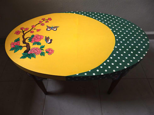 Butterfly coffee table:   by Art From Junk Pte Ltd