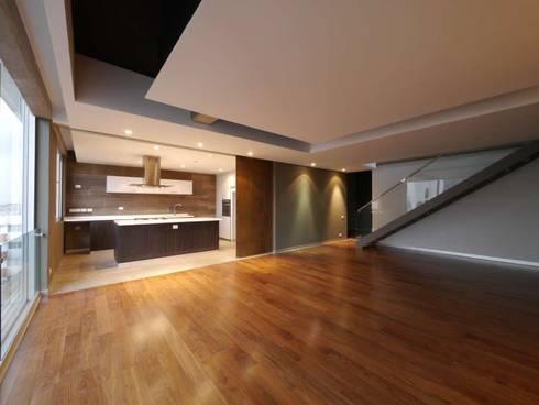 Arquimedes 168 Interior 2: Casas de estilo moderno por Mimesis Desarrolladora
