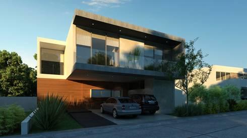 Fachada Principal: Casas de estilo moderno por TaAG Arquitectura