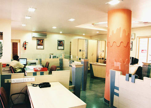 Office of BVQI:   by kavita bhaleraio design studio
