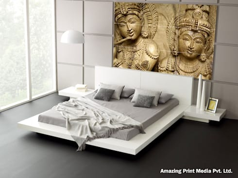 Digital Tiles Highliters: asian Bedroom by amazing print media