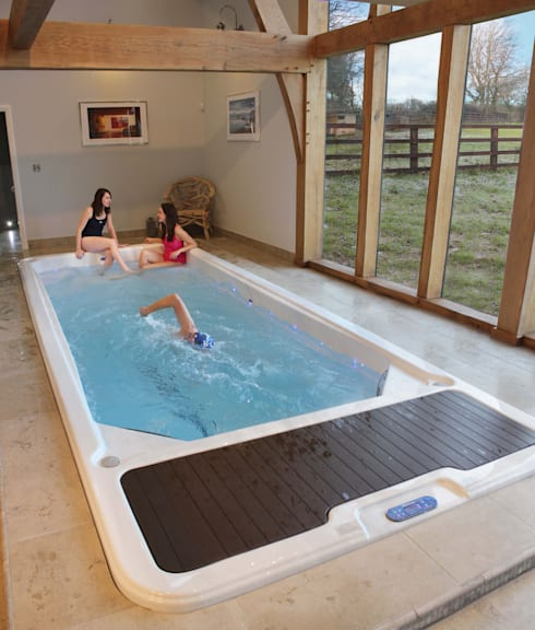 modern Pool by Hot Tub Barn