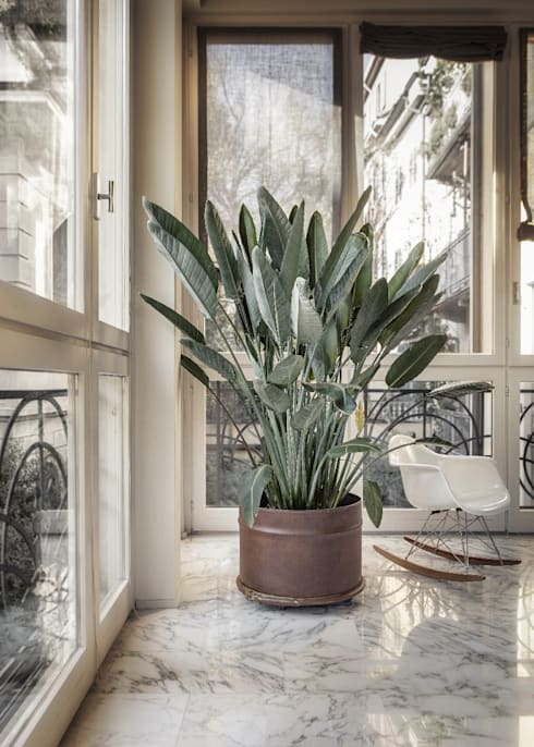 industrialer Balkon, Veranda & Terrasse von StudioDodici Architettura,  Design,  Interior