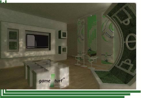SHOWROOM GAMETURF:  de estilo  por AE ARQUITECTOS