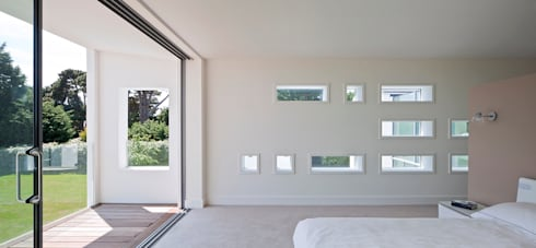 Le Foin Bas: modern Bedroom by JAMIE FALLA ARCHITECTURE