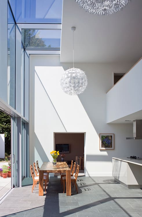 Le Foin Bas:  Dining room by JAMIE FALLA ARCHITECTURE