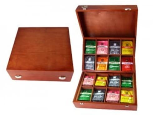 Wooden Tea Compartment Box:  Household by Wooden Gift Company