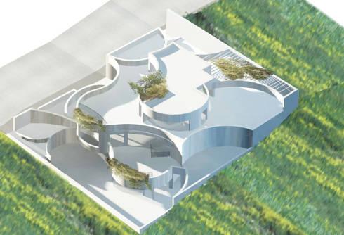 casa 3c: Casas de estilo  de Erredeeme Arquitectos slp