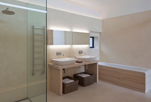 Le Portelet: modern Bathroom by JAMIE FALLA ARCHITECTURE
