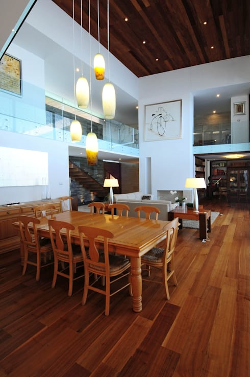 Casa EV: Salas de estilo  por ze|arquitectura