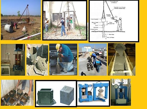 Testing of materials:   by SRK Consultants & Engineers