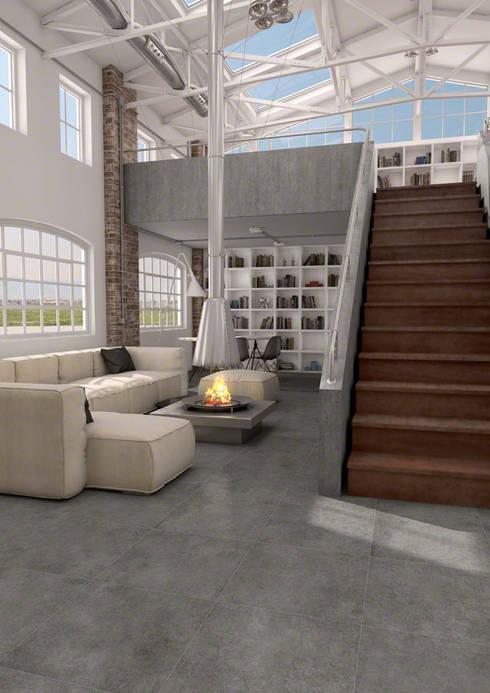 industrial Living room by Sánchez Plá